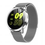 Ceas Smartwatch SUPER PREMIUM cu ecran color Argintiu Karen SWCF18